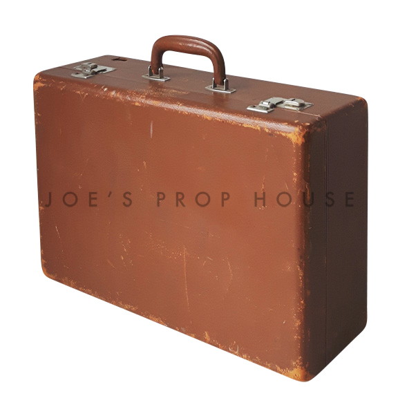 Geoffry Hardshell Suitcase Brown SMALL