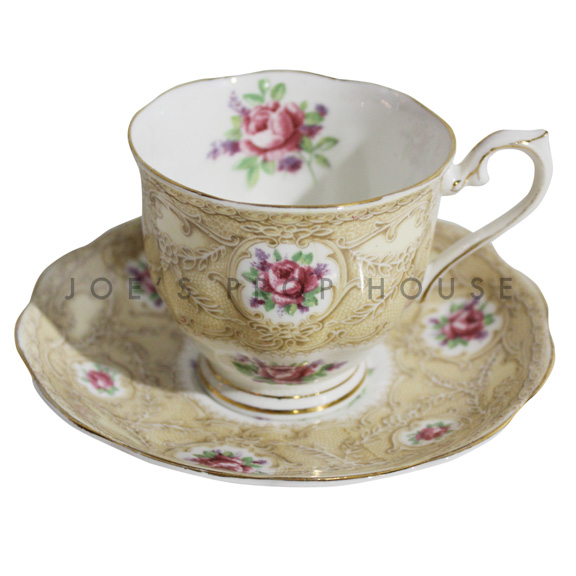 Erin Floral Lace Teacup and Saucer