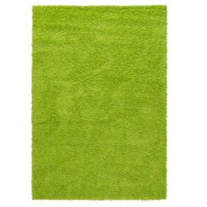 Shag Area Rug Lime Green W5ft x L7ft