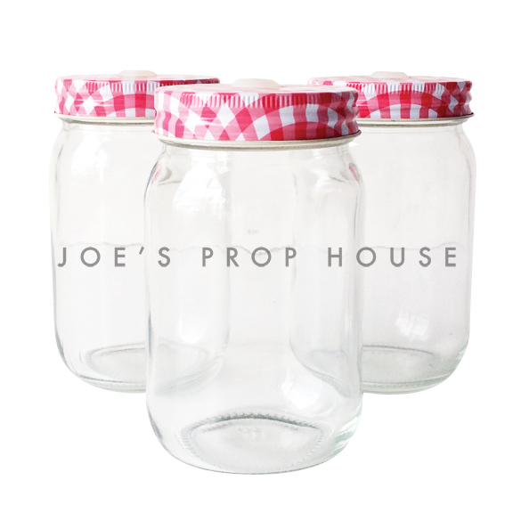 Gingham Rouge Pot de Mason por boisson