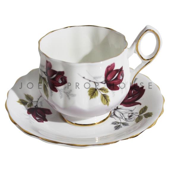 Rosetta Floral Teacup and Saucer