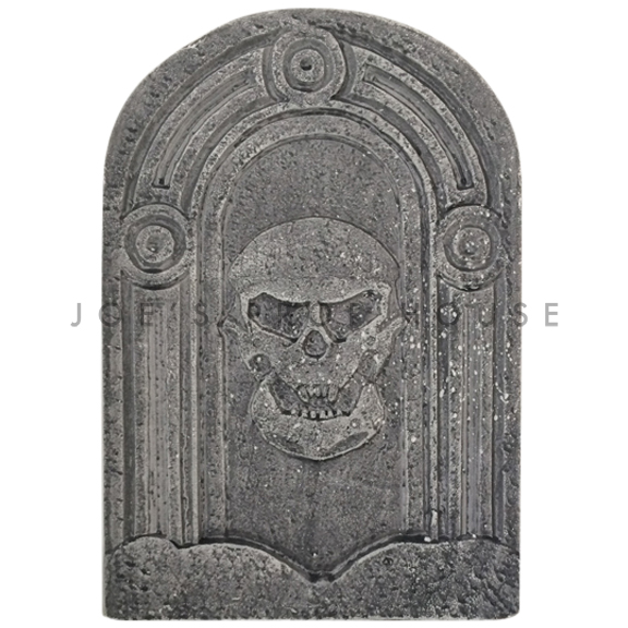 Skull Head Foam Tombstone Charcoal