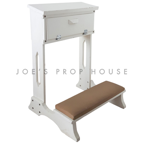 Gospel Prayer Bench White W21in x D19.5in x H31in