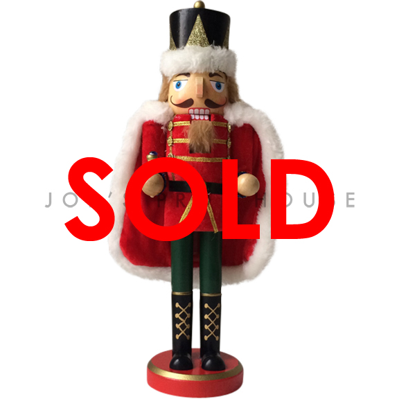 BUY ME / USED ITEM $16.99 Charles Red Cape Nutcracker