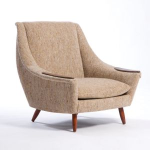 Archie Tweed Armchair Brown