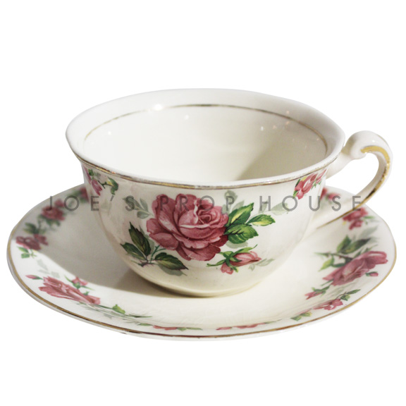 Beverly Floral Teacup and Saucer