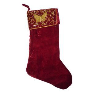 BUY ME / USED ITEM $12.99 Butterfly Christmas Stocking