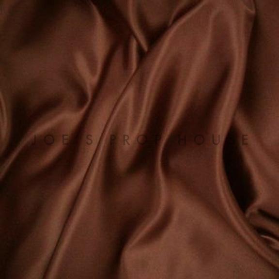 Bronze Brown Satin Linen
