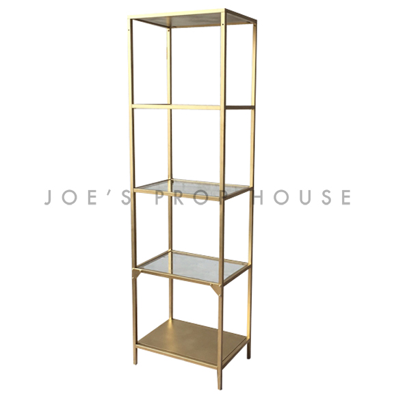 Edition Single 4 Shelf Barback Gold