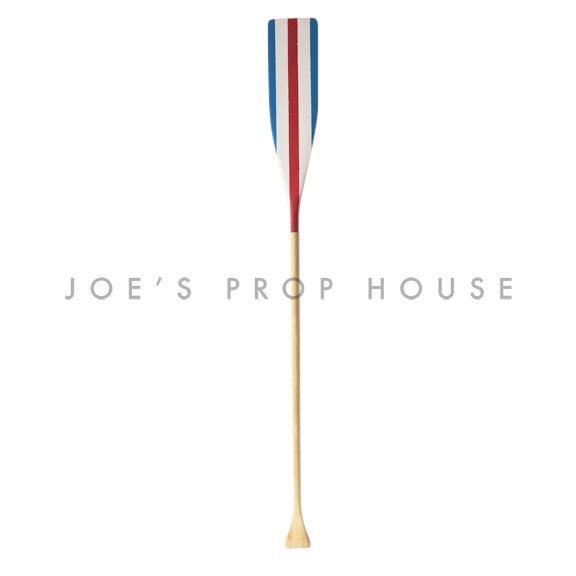 Red White and Blue Stripes Wooden Oar