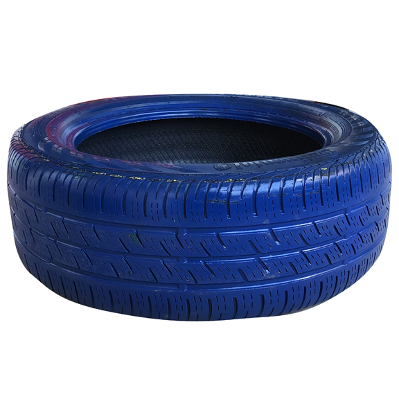 Blue Painted Tire