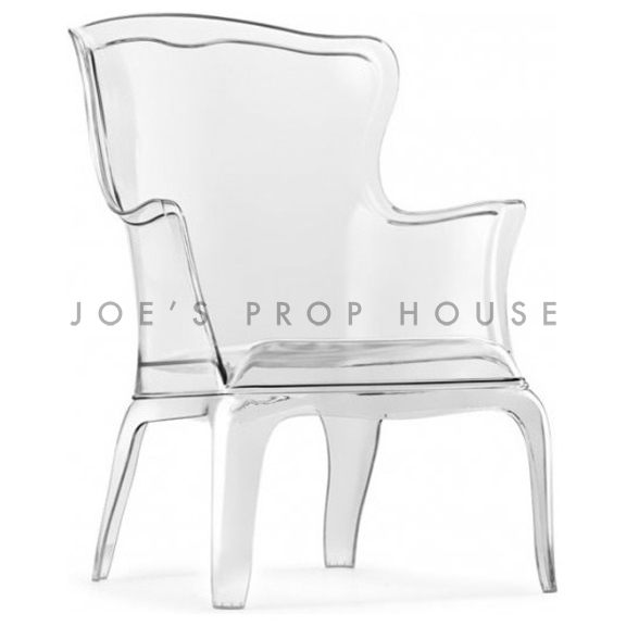 Jules Queen Armchair Clear White Cushion