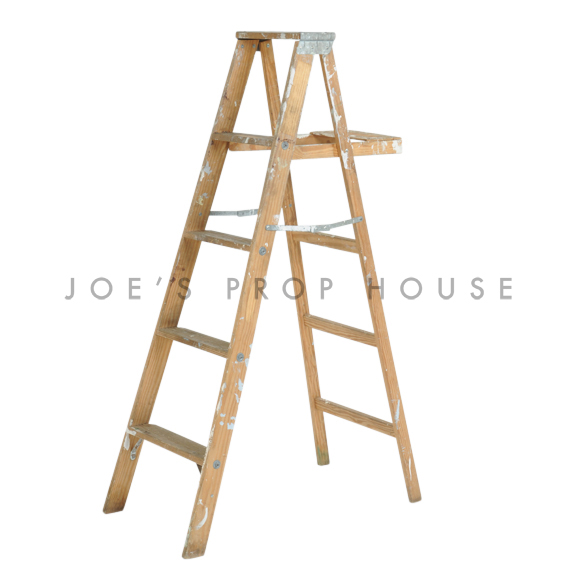Vintage Wooden Ladder Brown