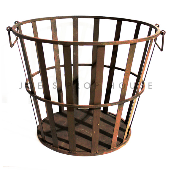 Irondale Metal Basket w/handles Large Wide