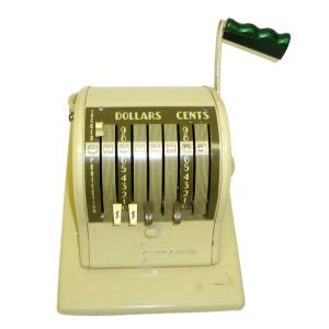 Vintage Manual Cheque Machine