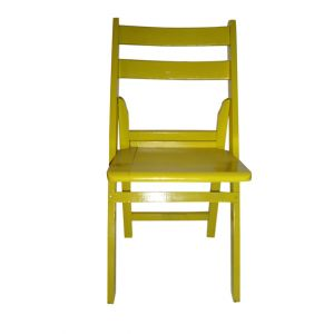Yellow Wood Folding Chair
