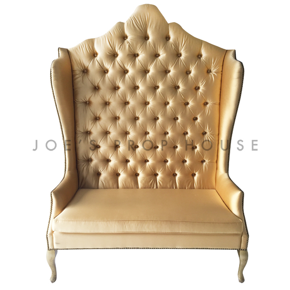 Casablanca Tufted High Back Banquette Gold