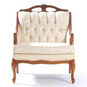 Benett Tufted Armchair Ivory