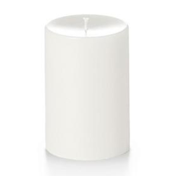 Unscented White Pillar Candles 4in x 6in