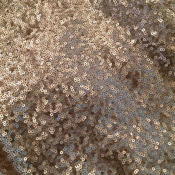Champagne Caviar Sequins Linen Round 132in