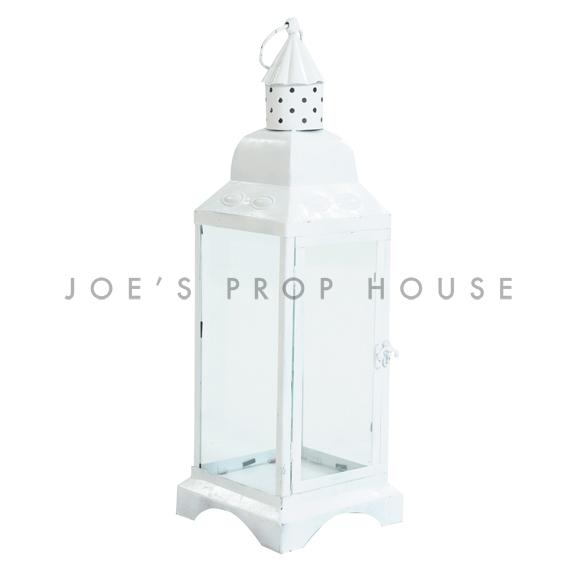 Metal Cottage Lantern White