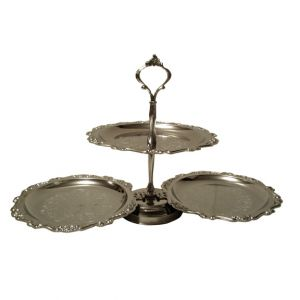 Aileen Two-Tier Silver Serving Tray