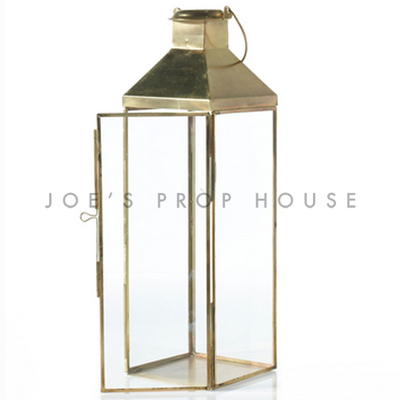 Margot Antique Metal Lantern Gold H18in