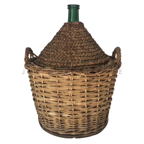 Braided Large Full Wicker Wine Jug