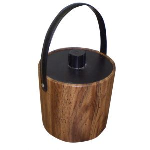 Faux Wood Ice Bucket