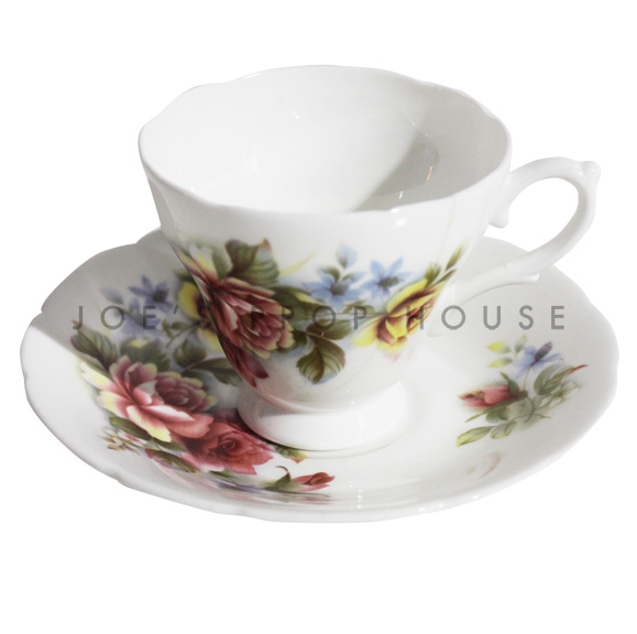 Daphne Floral Teacup and Saucer