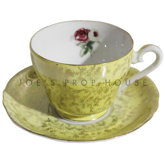 Tasse à thé et saucer jaune Hollander