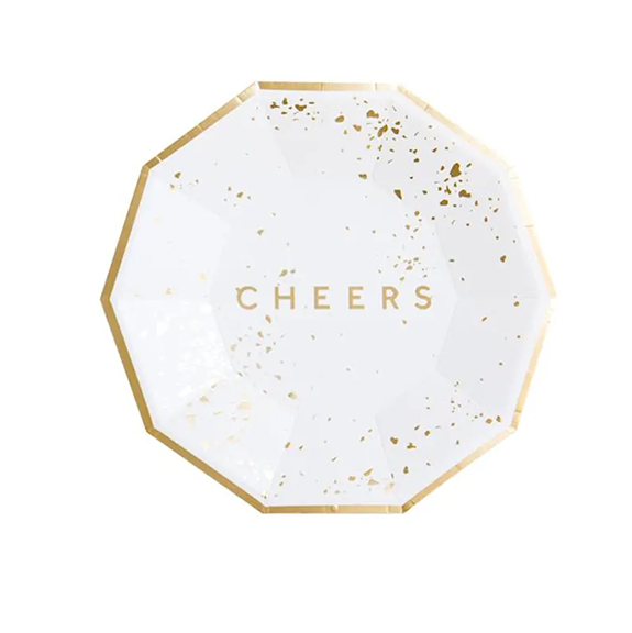 BUY ME / NEW ITEM $8.99 each Cheers Small Paper Plates - 8 Pack