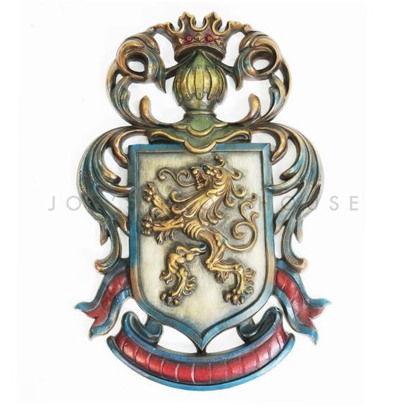 Wall Mount Lion Royal Crest
