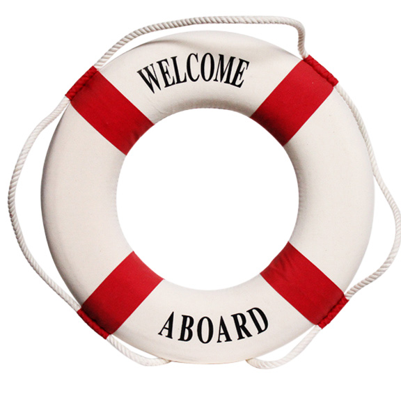 Welcome Aboard Lifesaver Red