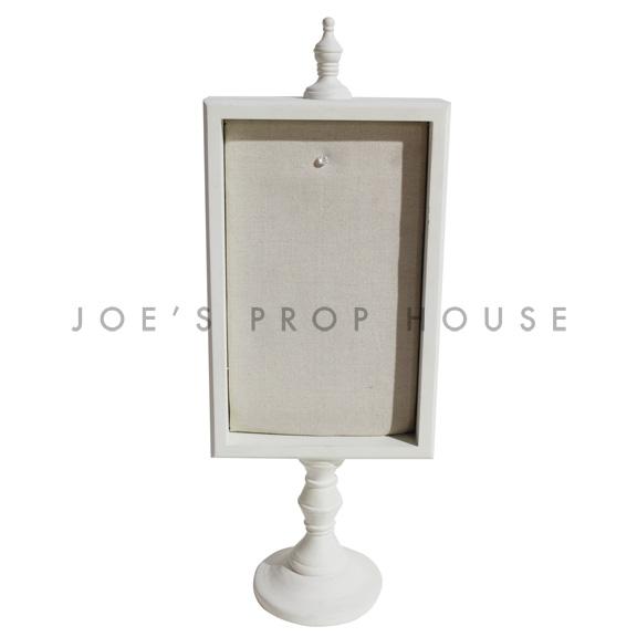 Padded Rectangular Pedestal Message Board Ivory