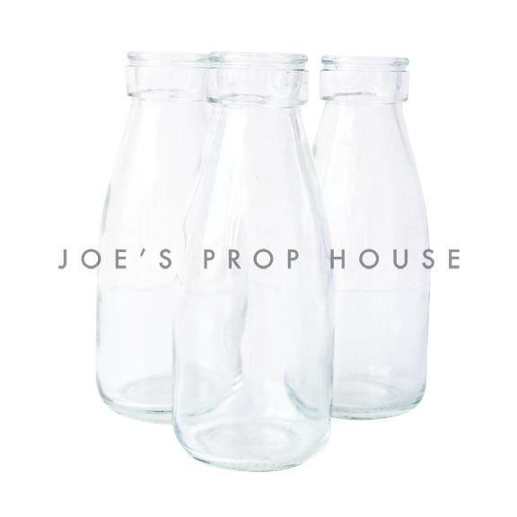 Clear Glass Milk Bottles SMALL