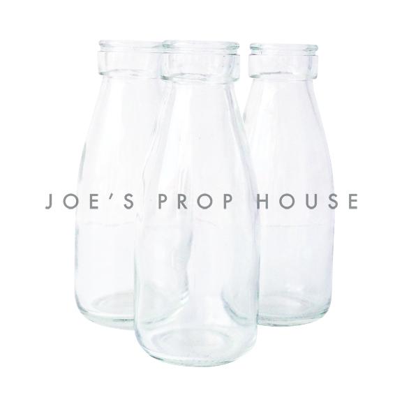 Clear Glass Milk Bottles SMALL