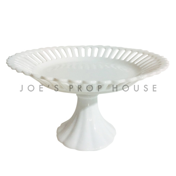Laurie Round Porcelain Cake Stand White D7.5in