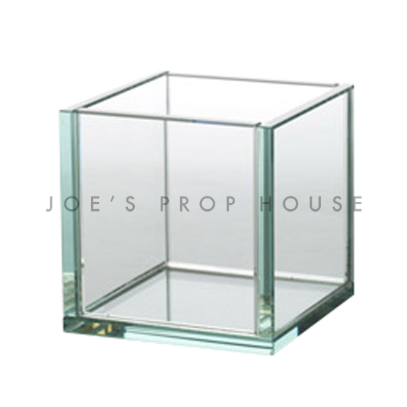 Joelle Clear Tempered Glass Square Container Cube H4in