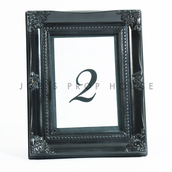 Baroque Table Number Frame Black 5in x 7in