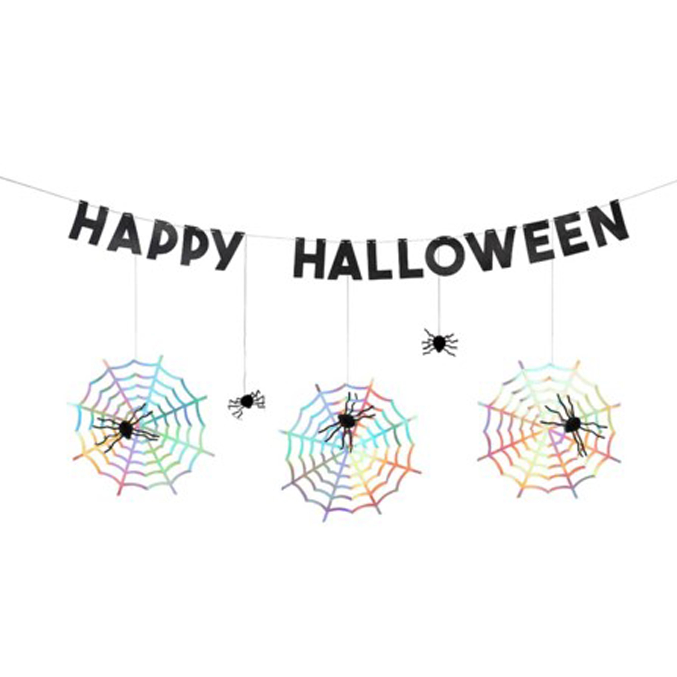 BUY ME / NEW ITEM $29.99 each Holographic Honeycomb Spider Paper Garland