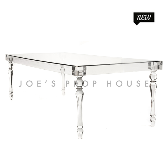 Jules Clear Lucite Glasstop Table L96in x D42in H30in
