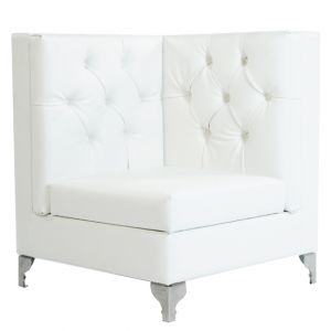 Glam Tufted Sectional Corner White