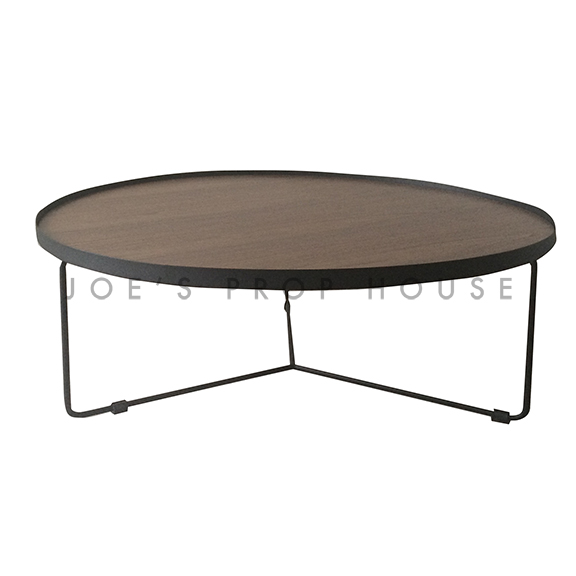 Holton Round Metal Coffee Table w/Faux Wood Top