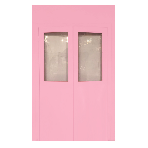 Pink Self-Standing Double Door Entrance Wall