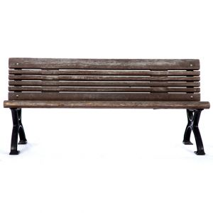 Weathered Park Bench Brown W66in x D24.5in H30.5in