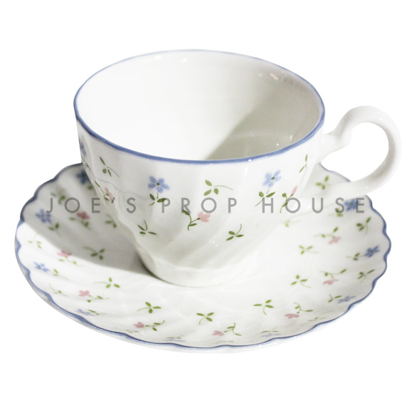 Eleanna Floral Teacup and Sacuer
