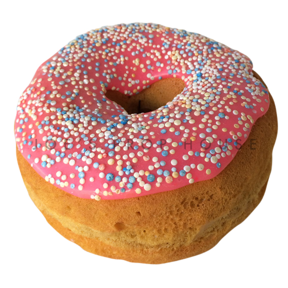 Strawberry Glaze Sprinkle Donut Dessert Prop