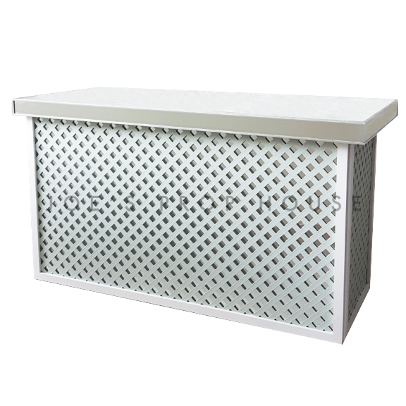 Lattice Bar w/Mirror Top L6ft