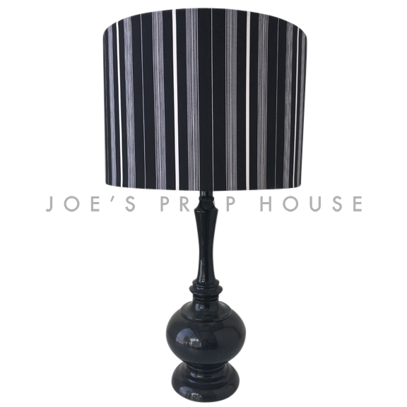 Tuxedo Band Lampe de table Noir / Blanc